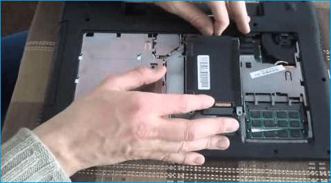 sostituire fisicamente l'HDD con SSD