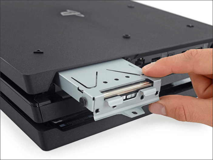 Take PS4 hard drive out of the machine console.