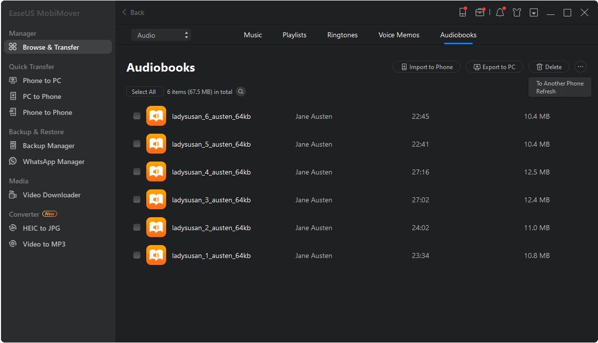 audiobooks from itunes