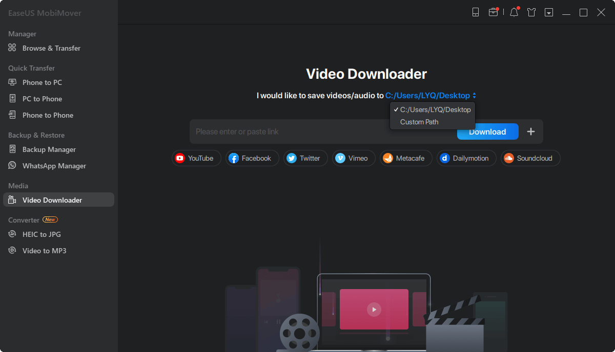 EaseUS MobiMover URL Video Downloader