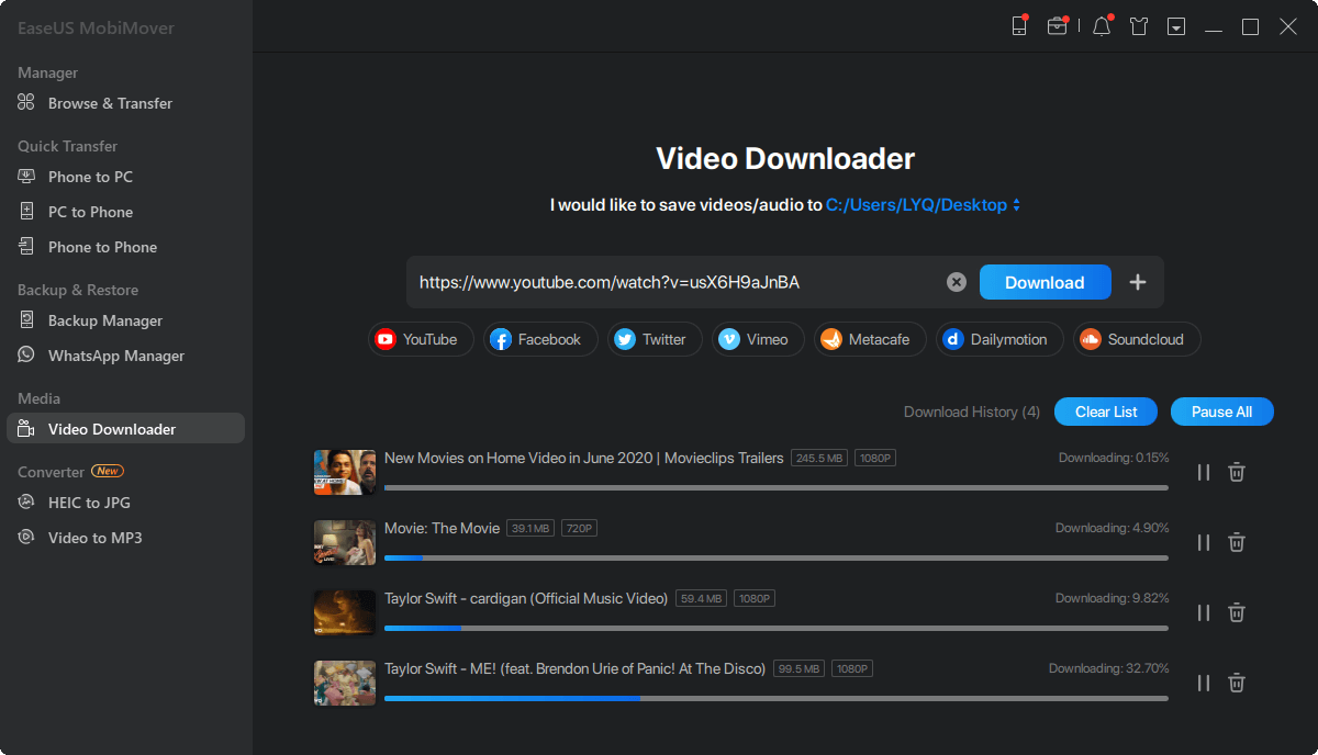 YouTube video downloader free download - Step 2