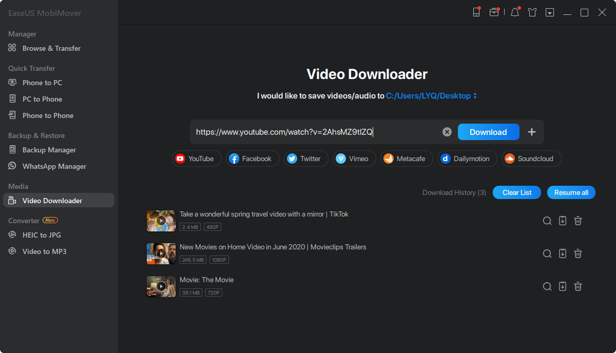 How to download Dailymotion videos to iPhone/iPad - Step 3