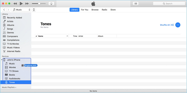 itunes how to add music to iphone from mac