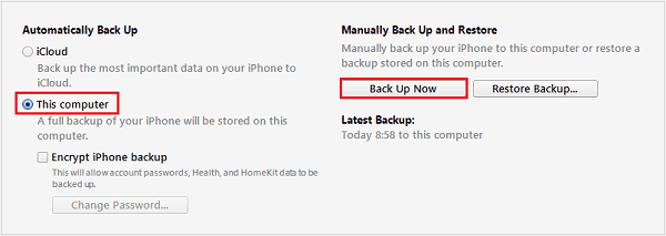 How to back up iPhone to computer