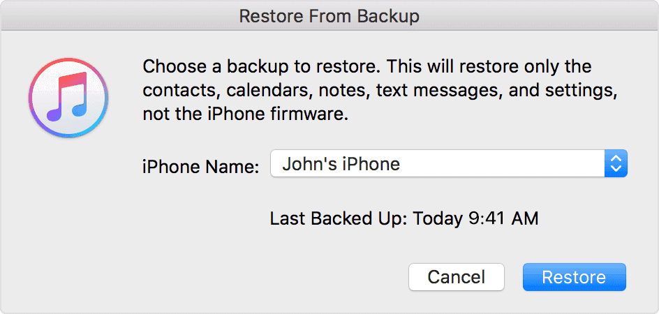 use itunes backup to transer photos to iphone8