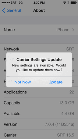 update carrier settings iphone how to update carrier settings on iphone easeus 16351