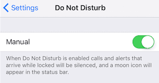 Do Not Disturb is off