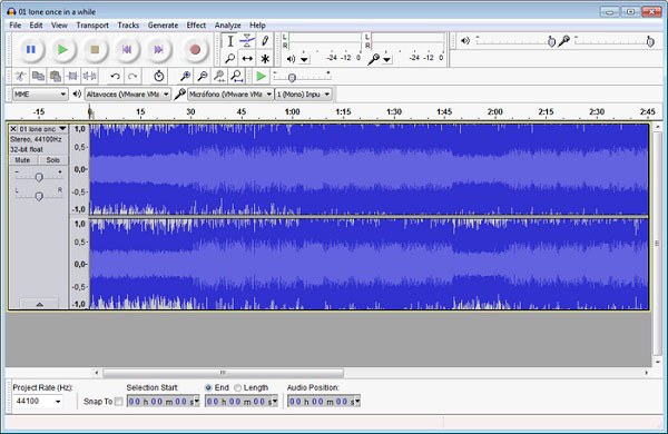 How to extract audio from video using Audacity
