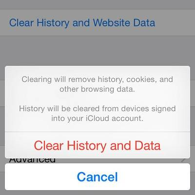 Free up space on iPhone/iPad - clear Safari cache