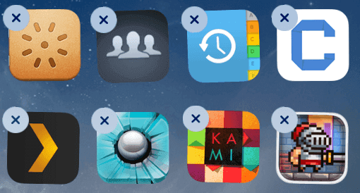 Free up iPhone space - delete Apps
