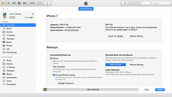 How to backup iPhone to computer with iTunes