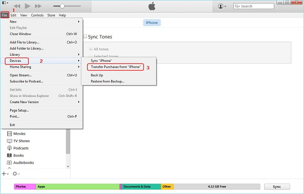 How to transfer music from iPhone to iPhone with iTunes