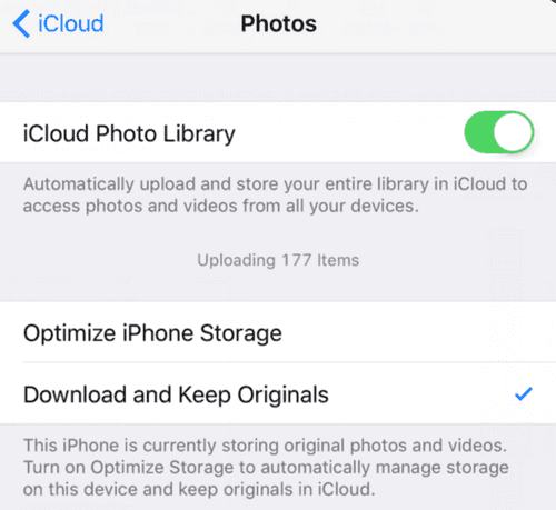 How to move photos from iPhone to iCloud