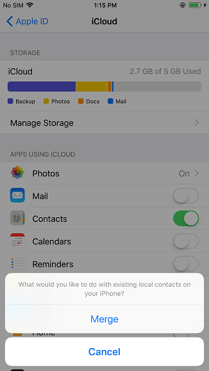How to recover my contacts on my iphone 8