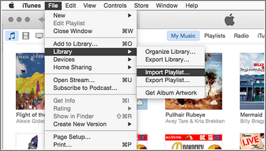 how to import playlists from itunes to google play music