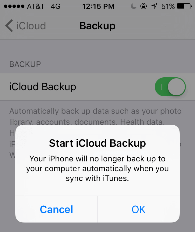 Backup iPhone video to iCloud