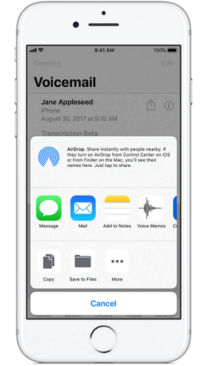 iPhone voicemail backup to PC by email.