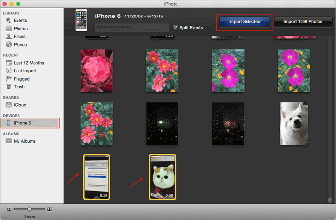 iphoto-app-import-selected