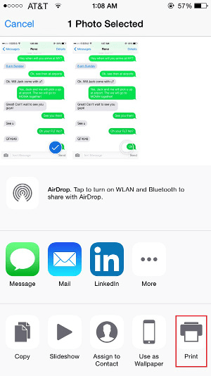 Three Simple Ways to Print out Text Messages from iPhone