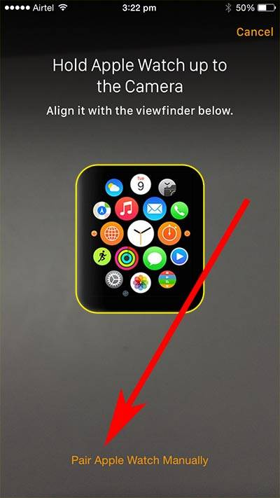 Pair Apple watch with iPhone - Pair Apple watch manually