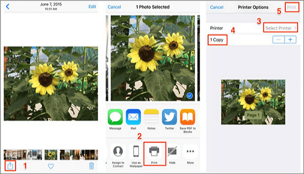 print photos from iPhone via AirPrint