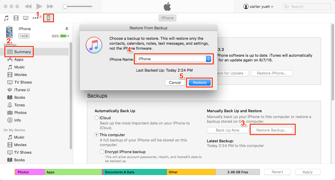unlocking an ipad using itunes