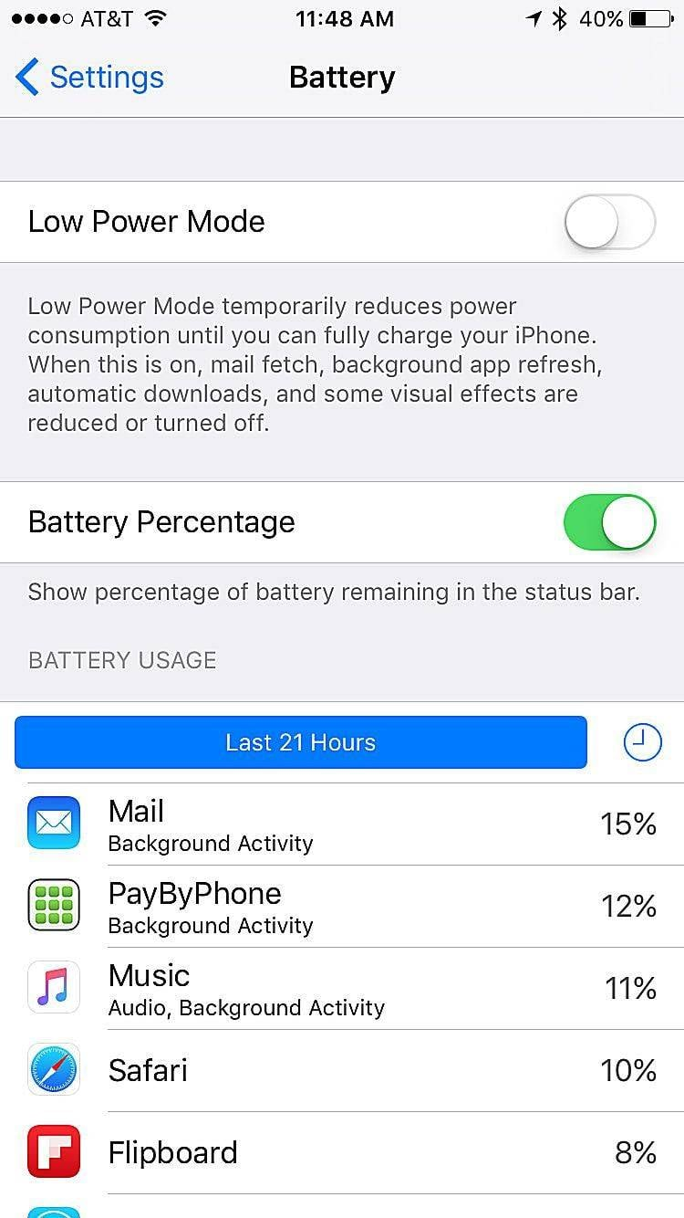 Save battery on iPhone/iPad/iPod Touch - Check battery usage