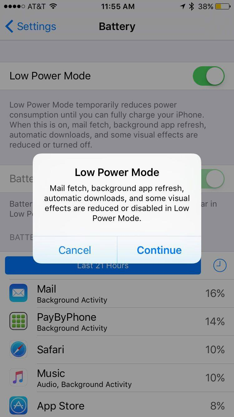 Save battery on iPhone/iPad/iPod Touch - Turn on Low Power Mode