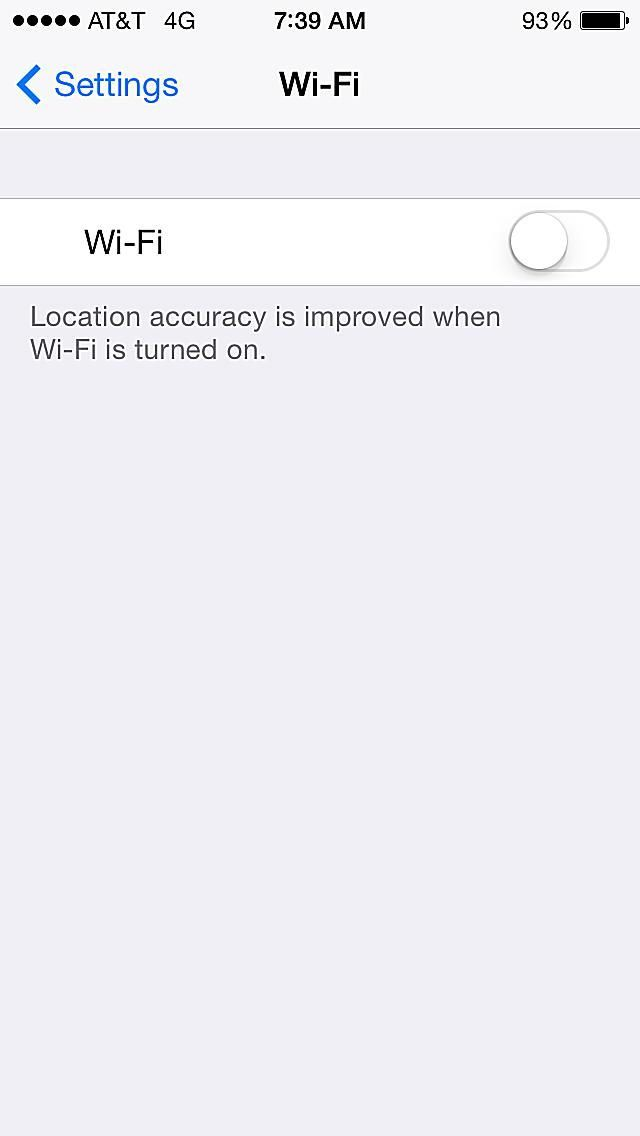 Save battery on iPhone/iPad/iPod Touch - Turn off Wi-Fi