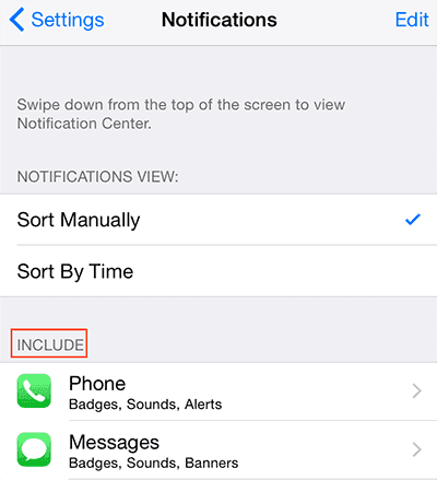 Save battery on iPhone/iPad/iPod Touch - Turn off notifications