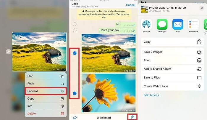 Share Multiple Media Files from WhatsApp