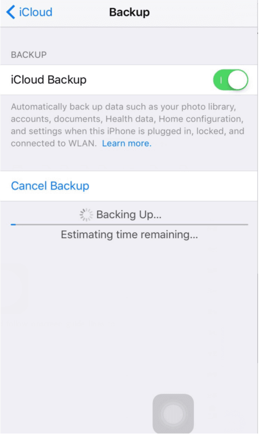 Create iMessage backups in iCloud.