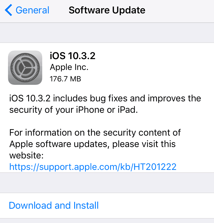 Update iPad to the latest iOS