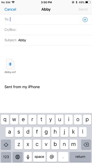 How to import contacts from iPhone to PC via Email