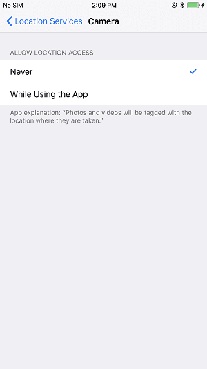 How to turn off location services on iPhone 8/8 Plus/X - Tip 1