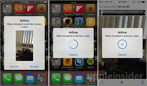 How to AirDrop videos from iPhone to iPhone via airdrop