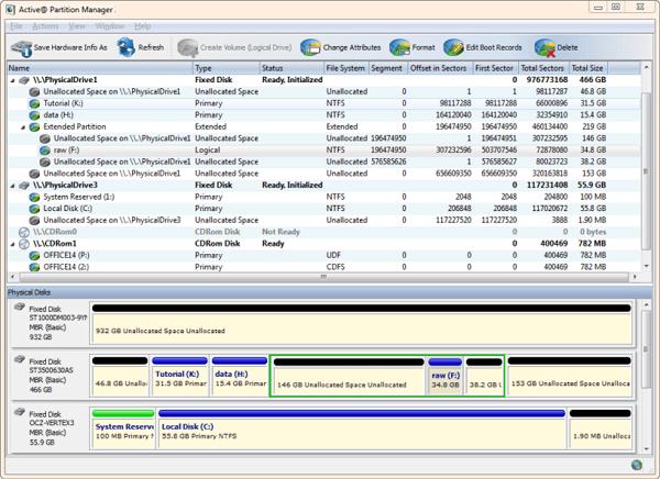 مدير قسم مجاني windows 10-Active Partition Manager