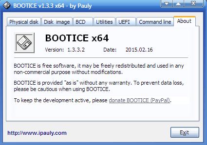 bootice - أداة إصلاح mbr