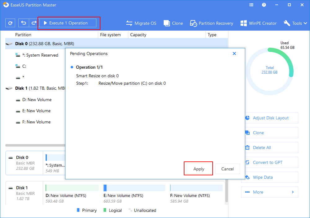 Cách điều chỉnh dung lượng ổ đĩa Low C Bước 3