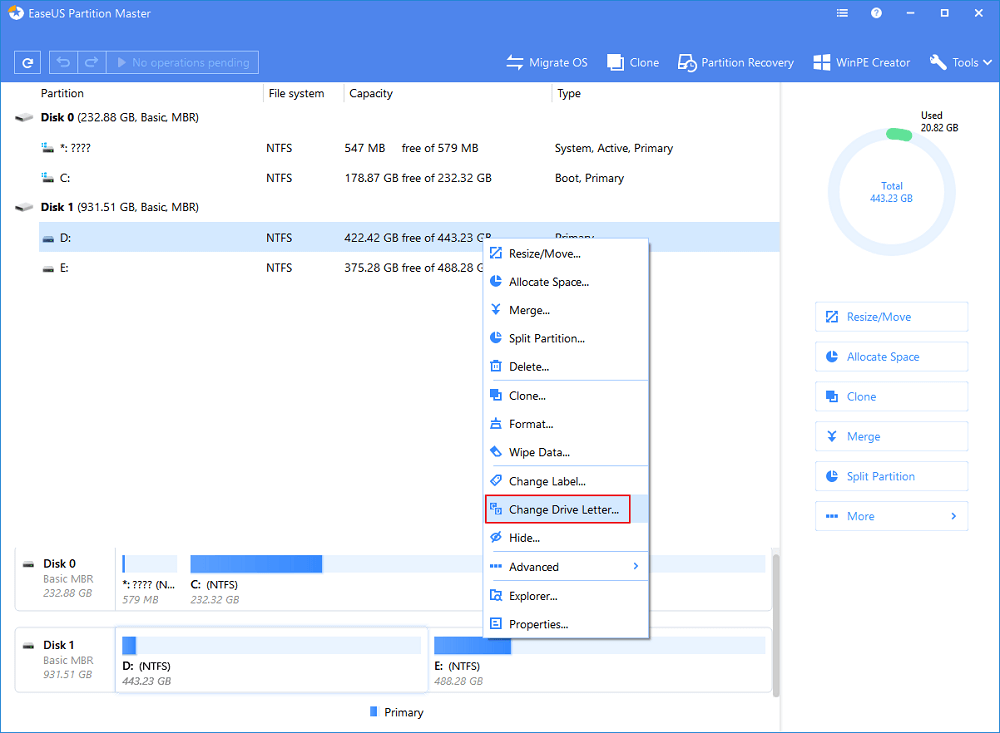 Fixed] Unable to Change Letter or Assign Drive Letter to D/E