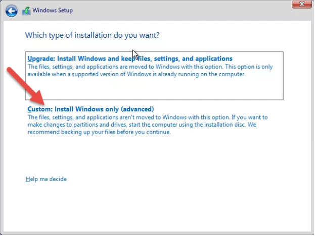 Clean install Windows Server 2016.