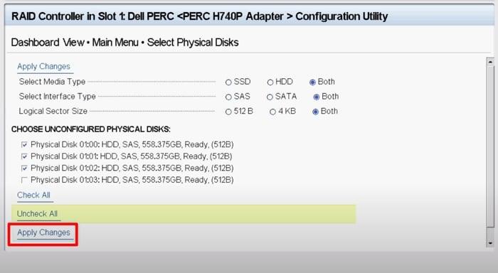 تأكد من تكوين قرص RAID 5 لترقية سعته