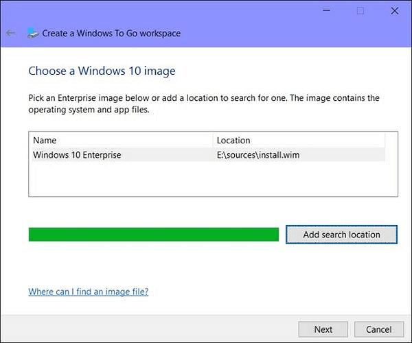 قم بإنشاء Windows إلى GO على محرك أقراص ثابت خارجي باستخدام صورة Windows 10 ISO