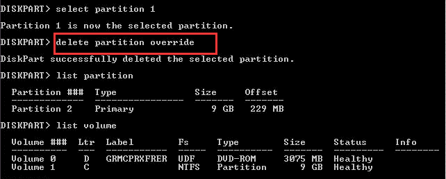 Solved] Diskpart Delete Partition Override Not Working - EaseUS
