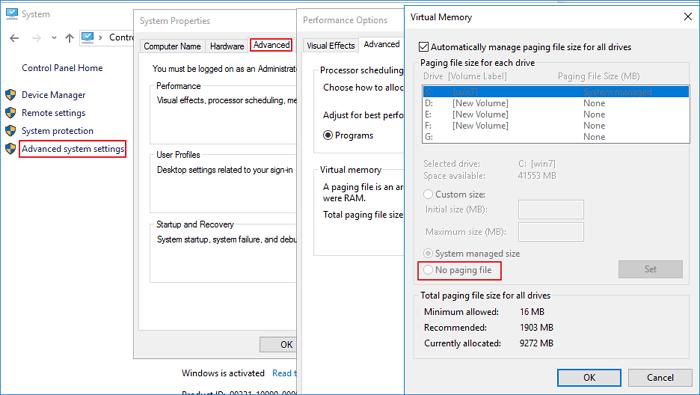 كيفية زيادة حجم تقليص في windows 10