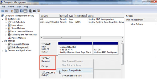 Answers: What is Foreign Dynamic Disk and How to Fix it - EaseUS