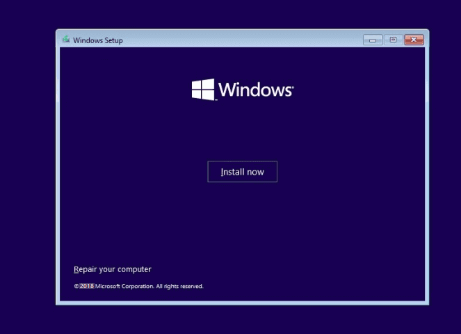 قم بتثبيت Windows 10 على GPT