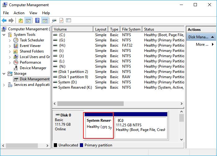 فحص نظام التشغيل windows 10 الخاص بك على قسم gpt