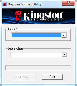 تطبيق kingston usb format utility