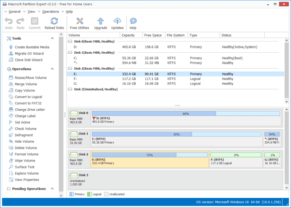 free windows 10 disk management tool - Macrorit Disk Partition Expert